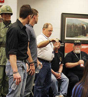 Vietnam veterans perform presentation