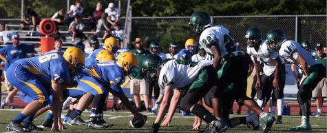 Freshman Football lines up against Mehlville