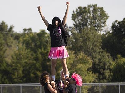 Powder Puff Cheerleaders