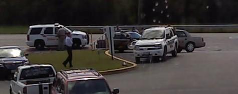 Intruders, gun causes lockdown scare