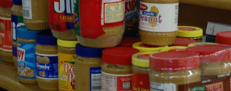 Library collects peanut butter for Haiti