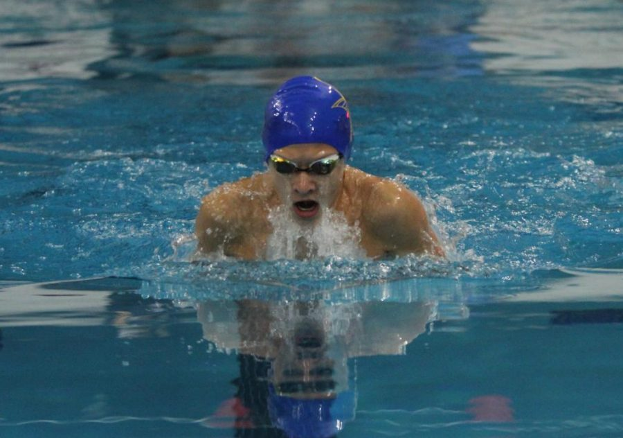 Boys swim competes in State, Nov 15.
