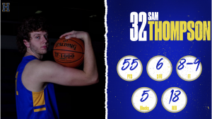 Senior Sam Thompson breaks school basketball PR