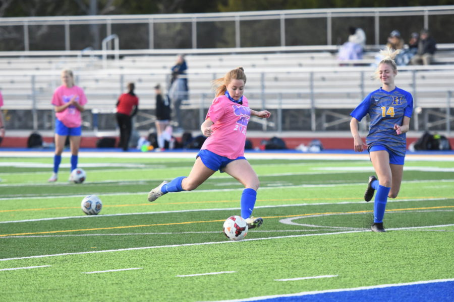 Girls varsity soccer defeats Pattonville in Districts May 21.