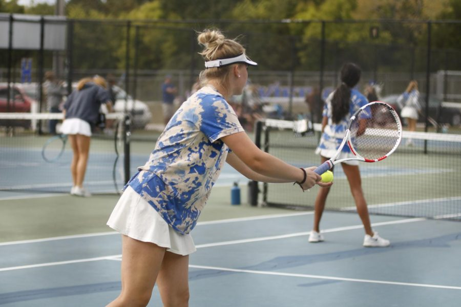 Girls Tennis Takes on State Doubles and Lafayette